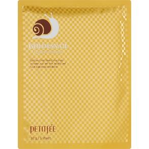 Гидрогелевая маска для лица с золотом и улиткой Petitfee&Koelf Gold & Snail Hydrogel Mask Pack