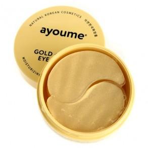 Гидрогелевые патчи с улиточным муцином и золотом Ayoume Gold+Snail Eye Patch