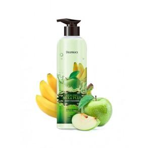 Гель для душа яблочно-банановый Deoproce Healing Mix and Plus Body Cleanser Apple Banana