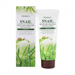 Крем для ног и рук с муцином улитки Deoproce Moisture Hand & Foot Snail Recovery