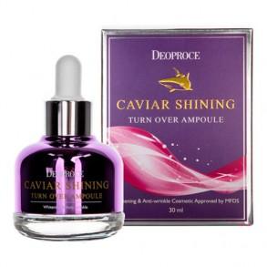 Ночная антивозрастная сыворотка с экстрактом икры акулы Deoproce Caviar Shining Turn Over Ampoule