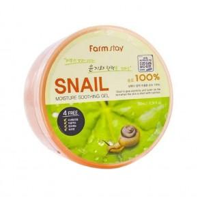 Увлажняющий гель с улиточным муцином FarmStay Moisture Soothing Gel Snail