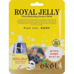 Тканевая маска с экстрактом пчелиного маточного молочка Ekel Royal Jelly Hydrating Essence Mask
