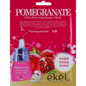 Тканевая маска с экстрактом граната Ekel Pomegranate Ultra Hydrating Essence Mask