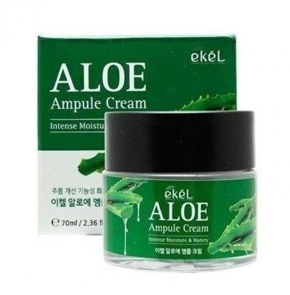 Ампульный крем для лица с алоэ Ekel Aloe Ampule Cream