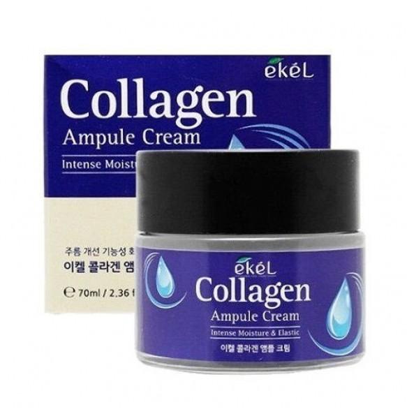 Ампульный крем для лица с коллагеном Ekel Collagen Ampule Cream