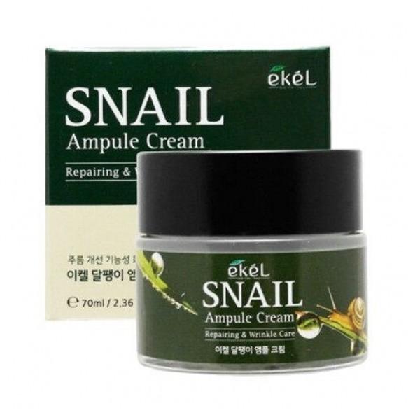 Ампульный крем для лица с муцином улитки Ekel Snail Ampule Cream