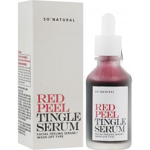 Сыворотка-пилинг для лица с фруктовыми кислотами So Natural Red Peel Tingle Serum
