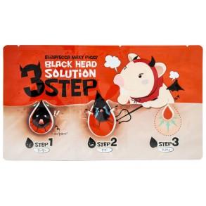 Набор три шага для удаления черных точек Elizavecca Face Care Milky Piggy Black Head Solution 3 Step