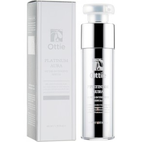 Омолаживающая сыворотка с экстрактом платины Ottie Platinum Aura Vital Nutri-Intensive Serum