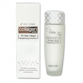 Осветляющая эмульсия с коллагеном 3W Clinic Collagen White Brightening Emulsion