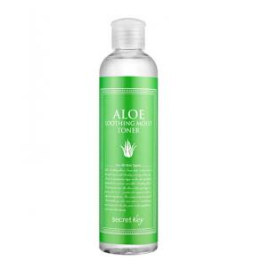 Натуральный увлажняющий тонер для лица с экстрактом алоэ вера Secret Key Aloe Soothing Moist Toner