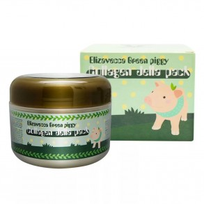 Коллагеновая маска для лица Elizavecca Face Care Green piggy Collagen Jella Pack