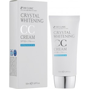 3W Clinic Crystal Whitening CC Cream SPF50+/PA+++ №02 Natural Beige