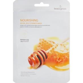 Питательная тканевая маска для лица с маточным молочком BeauuGreen Nourishing Royal Jelly Essence Mask