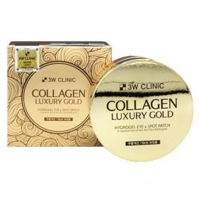 Гидрогелевые патчи с коллоидным золотом и гидролизованным коллагеном 3W Clinic Collagen Luxury Gold Hydrogel Eye and Spot Patch