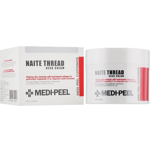 Пептидный крем для шеи и декольте Medi-Peel Premium Naite Thread Neck Cream