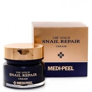 Крем для лица с коллоидным золотом и муцином улитки Medi Peel 24k Gold Snail Repair Cream