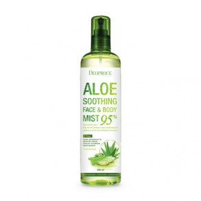 Успокаивающий спрей с алоэ вера для лица и тела Deoproce Aloe Soothing Face & Body Mist 95%