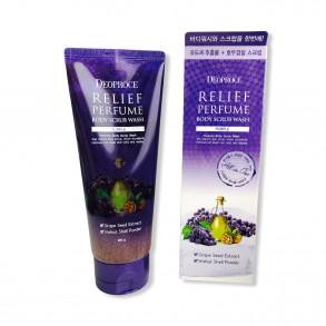 Deoproce Relief Perfume Body Scrub Wash Grape Seeds