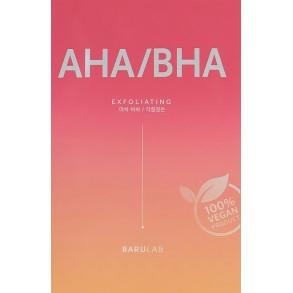 Отшелушивающая тканевая маска с кислотами Barulab The Clean Vegan AHA/BHA Mask