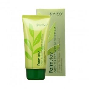 Защитный увлажняющий крем с семенами зеленого чая FarmStay Green Tea Seed Moisture Sun Cream SPF50+PA+++