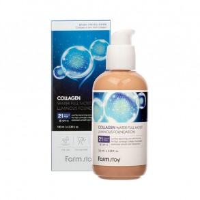 Коллагеновый тональный крем с эффектом сияния FarmStay Collagen Water Full Moist Luminous Foundation SPF15 №21
