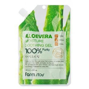 Многофункциональный гель с алоэ вера FarmStay Moisture Soothing Gel Aloe Vera