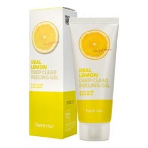 Глубоко очищающий пилинг-гель для лица с экстрактом лимона FarmStay Real Lemon Deep Clear Peeling Gel