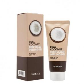 Глубоко очищающая пилинг-скатка для лица с экстрактом кокоса Farm Stay Real Gel Coconut Deep Clear Peeling Gel