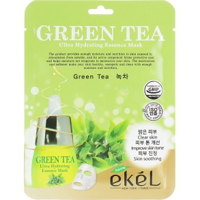 Тканевая маска с экстрактом зеленого чая Ekel Green Tea Ultra Hydrating Essence Mask