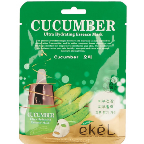 Тканевая маска с огурцом против отеков Ekel Cucumber Ultra Hydrating Essence Mask