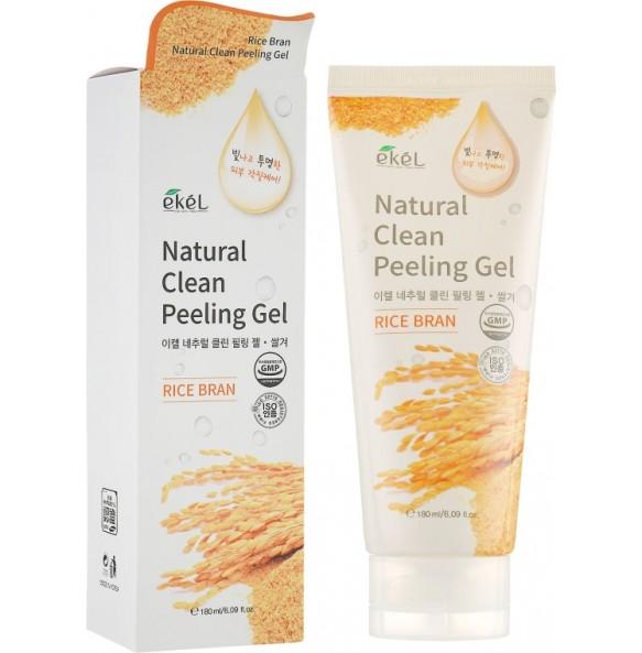 Пилинг-гель для лица с рисовыми отрубями Ekel Rice Bran Natural Clean Peeling Gel