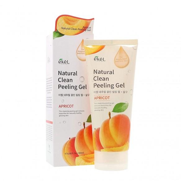 Успокаивающая пилинг-скатка с экстрактом абрикоса Ekel Apricot Natural Clean Peeling Gel