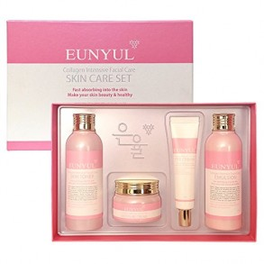 Набор косметики для лица с коллагеном Eunyul Collagen Intensive Facial Care Skin Care 4 Set