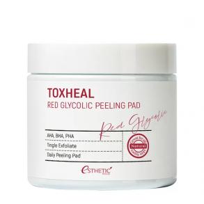 Пилинг-подушечки для мягкого очищения кожи лица Esthetic House Toxheal Red Glycolic Peeling Pad