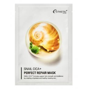 Восстанавливающая тканевая маска для лица с улиткой и центеллой Esthetic House Snail Cica+ Perfect Repair Mask