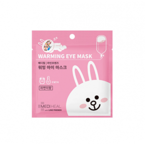 Согревающая маска для глаз с ароматом лаванды Mediheal Line Friends Warming Eye Mask Lavender