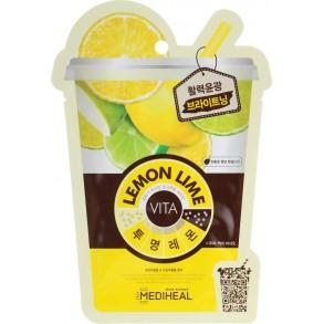 """Маска для лица """"Лимон и лайм"""" Mediheal Lemonlime Vita Mask"""