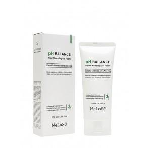Очищающая пенка для лица с экстрактом камелии и алоэ Meloso-pH Balance Mild Cleansing Gel Foam