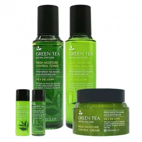 Набор средств для лица с зеленым чаем Enough Bonibelle Green Tea Moisture Control 3 Set