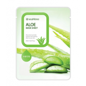 Тканевая маска с экстрактом алоэ SeaNtree Aloe Mask Sheet