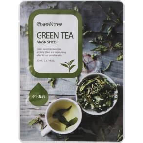 Тканевая маска с экстрактом зеленого чая SeaNtree Mask Sheet Green Tea
