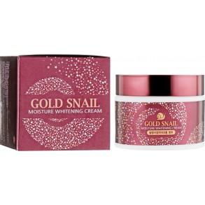 Восстанавливающий крем с муцином улитки Enough Gold Snail Moisture Whitening Cream