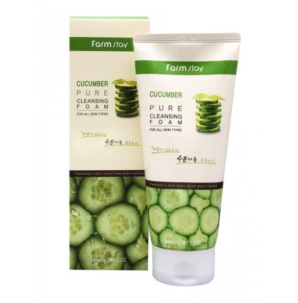 Пенка для умывания лица с экстрактом огурца Farmstay Cucumber Pure Cleansing Foam