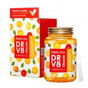 Ампульная сыворотка с витаминным комплексом FarmStay Dr-V8 Vitamin Ampoule