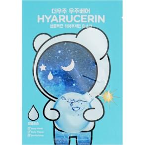 Маска для интенсивного увлажнения кожи лица с гиалуроновой кислотой The Oozoo Bear Hyarucerin Ampoule Mask