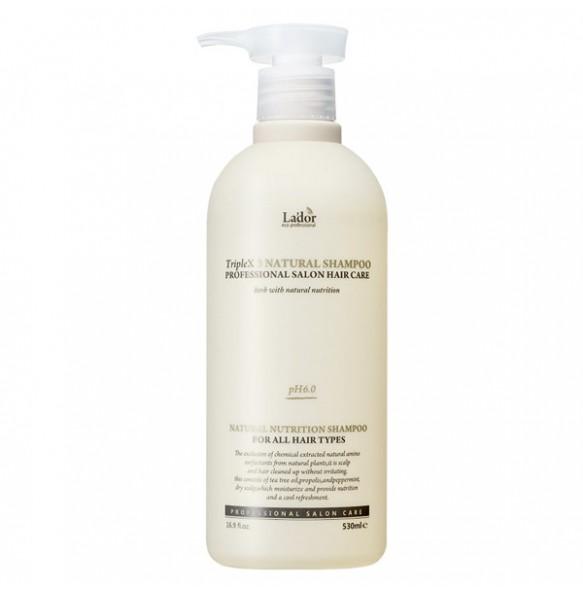 Бессульфатный органический шампунь La'dor Triplex3 Natural Shampoo 500ml