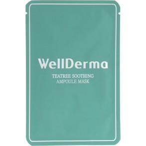Успокаивающая тканевая маска с чайным деревом WellDerma Teatree Trouble Care Ampoule Mask