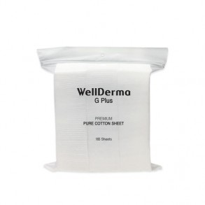Хлопковые ватные диски Wellderma G Plus Premium Pure Cotton Sheet